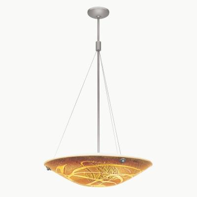 Access Lighting 23201 Four Light Pendant with Safari Italian Art Glass