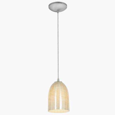 Access Lighting 28018-1C Sydney- One Light Cone Glass Pendant (Cord Hung)
