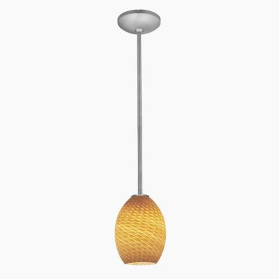 Access Lighting 28023-1R Sydney Ostrich - One Light Pendant with Round Canopy