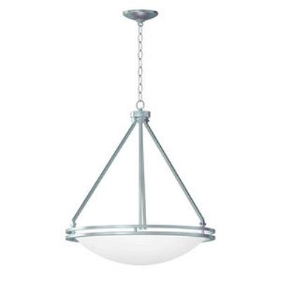 Access Lighting 20463GU-BS/WHT Aztec- Five Light Bowl Pendant