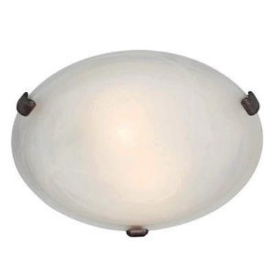 Access Lighting 23020-RU/WH Mona - Three Light Flush Mount