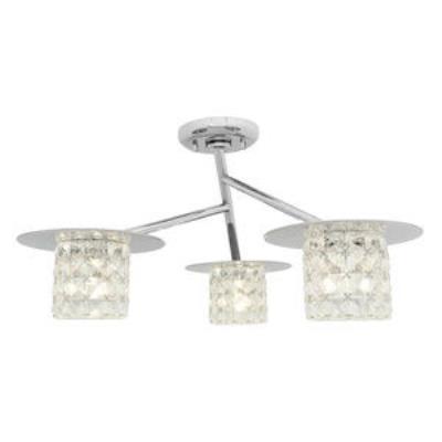 Access Lighting 23924-CH/CCL Prizm- Three Light Semi-FlushMount