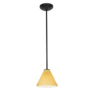 Access Lighting 28004-2C-ORB/AMB Tali Oriental - One Light Pendant (Cord Hung)