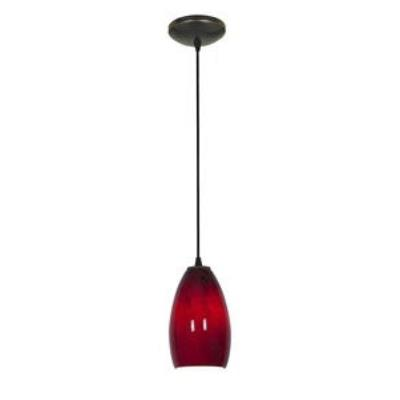 Access Lighting 28212-ORB/RUSKY Sydney Inari Silk - One Light Pendant