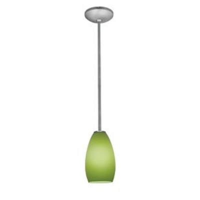 Access Lighting 28012-1R-BS/LGR Ami Inari Silk - One Light Pendant with Round Canopy