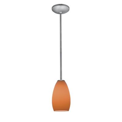 Access Lighting 28012-1R-BS/ORG Ami Inari Silk - One Light Pendant with Round Canopy