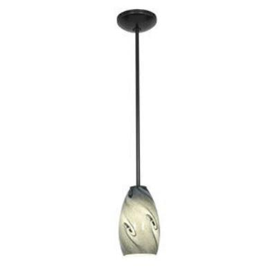 Access Lighting 28012-1R-ORB/BLUSKY Ami Inari Silk - One Light Pendant with Round Canopy