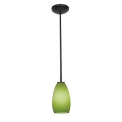 Access Lighting 28012-1R-ORB/LGR Ami Inari Silk - One Light Pendant with Round Canopy