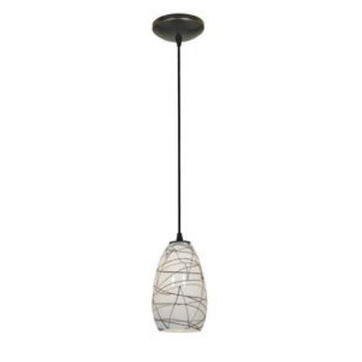 Access Lighting 28812-ORB/BLWH Tali Inari Silk - One Light Pendant