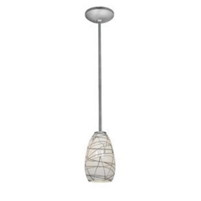 Access Lighting 28012-2R-BS/BLWH Ami Inari Silk - One Light Pendant with Round Canopy