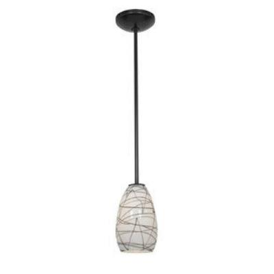 Access Lighting 28012-2R-ORB/BLWH Ami Inari Silk - One Light Pendant with Round Canopy