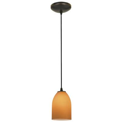 Access Lighting 28018-1C-ORB/AMB Sydney- - One Light Cone Pendant (Cord Hung)