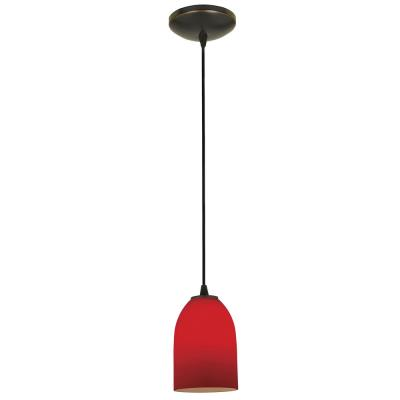 Access Lighting 28018-2C-ORB/RED Tali- - One Light Cone Pendant (Cord Hung)