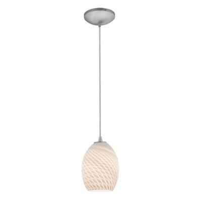 Access Lighting 28023-1C-BS/WHTFB Sydney - One Light Pendant (Cord Hung)