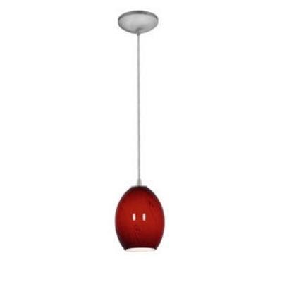 Access Lighting 28823-BS/REDFB Tali Ostrich Fire Bird - One Light Pendant