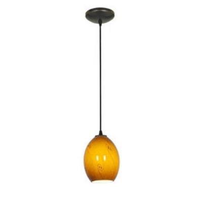 Access Lighting 28823-BS/RUSKY Tali Ostrich Fire Bird - One Light Pendant