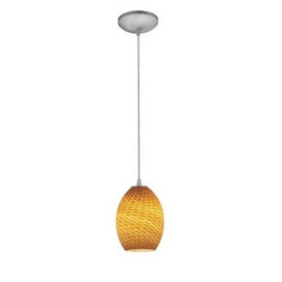 Access Lighting 28023-1C-BS/AMBFB Sydney - One Light Pendant (Cord Hung)