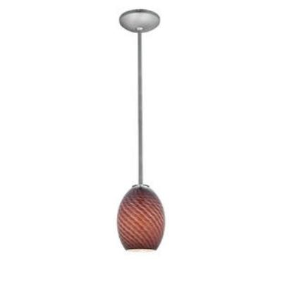 Access Lighting 28023-1C-BS/PLMFB Sydney - One Light Pendant (Cord Hung)