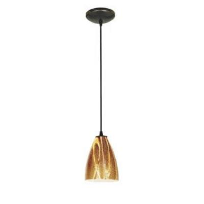 Access Lighting 28025-1R-ORB/AMZ Ami Safari - One Light Pendant with Round Canopy