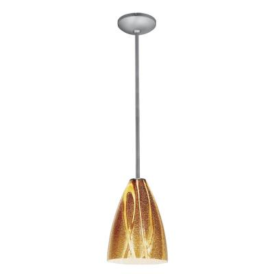 Access Lighting 28025-1R-BS/AMZ Ami Safari - One Light Pendant with Round Canopy