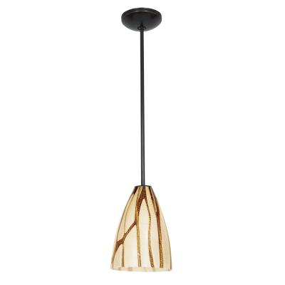 Access Lighting 28025-1R-ORB/LAV Ami Safari - One Light Pendant with Round Canopy