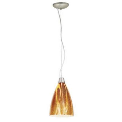 Access Lighting 28025-1C-BS/AMZ Sydney - One Light Italian Art Pendant (Cord Hung)