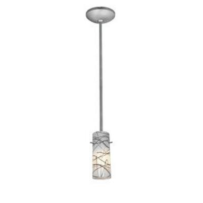 Access Lighting 28030-1R-BS/BLWH Ami Inari Silk - One Light Pendant with Round Canopy