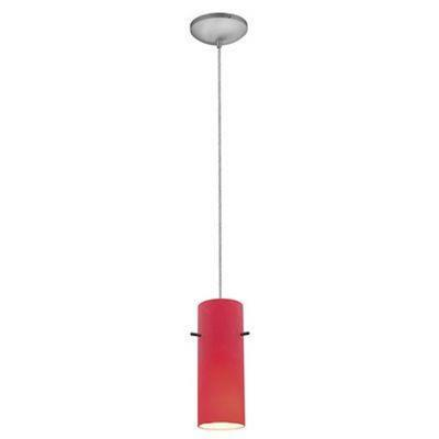 Access Lighting 28030-2C-BS/RED Tali - One Light Cylinder Pendant (Cord Hung)
