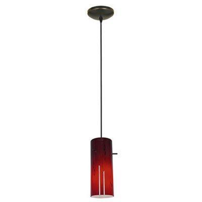 Access Lighting 28030-2C-ORB/RED Tali - One Light Cylinder Pendant (Cord Hung)