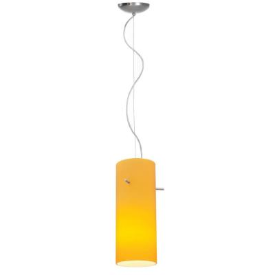 Access Lighting 28030-1C-BS/AMB Sydney - One Light Cylinder Pendant (Cord Hung)