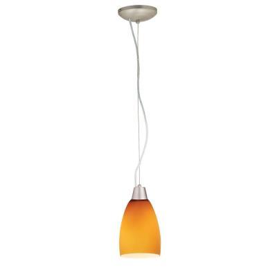 Access Lighting 28069-1C-BS/AMB Sydney - One Light Cone Pendant (Cord Hung)
