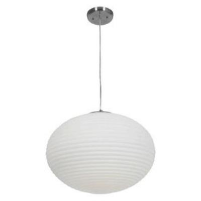 Access Lighting 50181-BS/OPL Callisto - Three Light Ribbed Pendant
