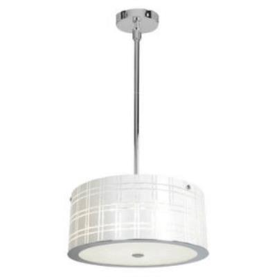 Access Lighting 50975-CH/WH Kalista - Three Light Cylinder Pendant