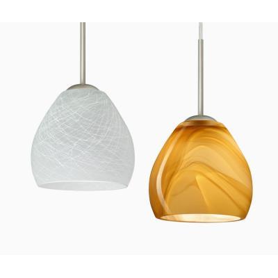 Besa Lighting Bolla Pendant-1 Bolla - One Light Cord Pendant with Flat Canopy
