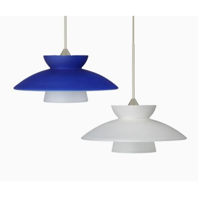 Besa Lighting Trilo 7 Mini-Pendant-1 Trilo 7 - One Light Cord Pendant with Flat Canopy