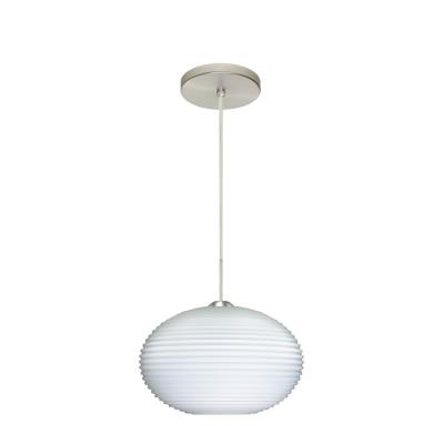 Besa Lighting Pape Pendant-1 Pape 12 - One Light Cord Pendant with Flat Canopy