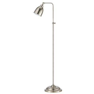 Cal Lighting BO-2032FL-BS One Light Pharmacy Floor Lamp with Adjustable Pole
