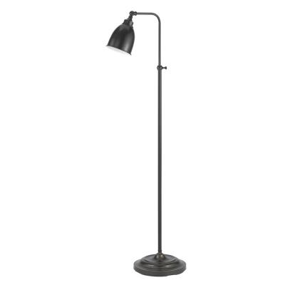Cal Lighting BO-2032FL-DB One Light Pharmacy Floor Lamp with Adjustable Pole