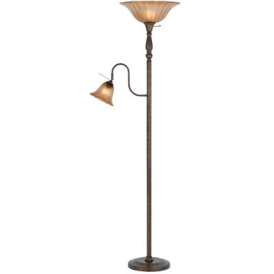 Cal Lighting BO-2052-RU Two Light Torchiere