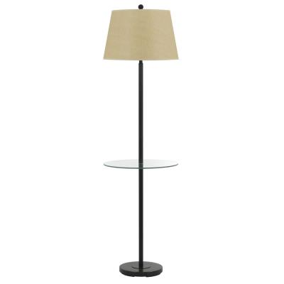 Cal Lighting BO-2077GT-DB Andros - One Light Floor Lamp with Glass Tray