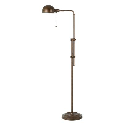 Cal Lighting BO-2441FL-RU Croby - One Light Pharmacy Floor Lamp with Adjustable Pole