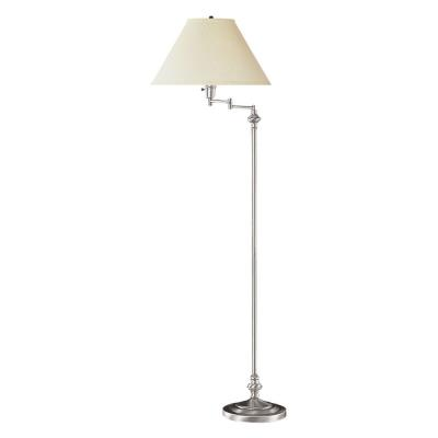 Cal Lighting BO-314-BS One Light Swing Arm Floor Lamp with Base