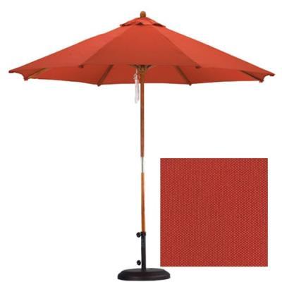 California Umbrella SOW908 9' Wood Market Umbrella