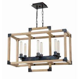 Cubic - Six Light Linear Chandelier