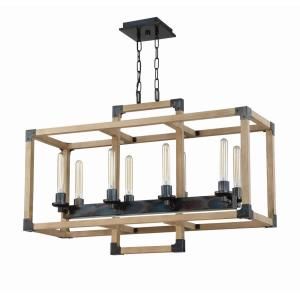 Cubic - Eight Light Linear Chandelier