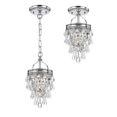 Crystorama Lighting 131 Calypso - One Light Chrome Pendant