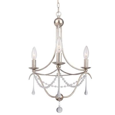 Crystorama Lighting 423 Metro II - Three Light Mini Chandelier