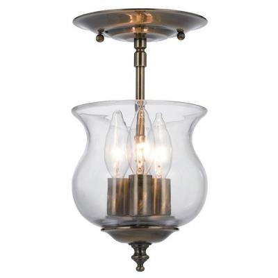 Crystorama Lighting 5715 Ascott - Three Light Ceiling Mount