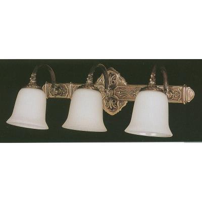 Crystorama Lighting 573-AB Boroque - Three Light Bath Bar
