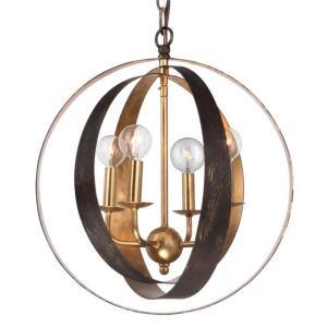 Luna - Four Light Sphere Chandelier